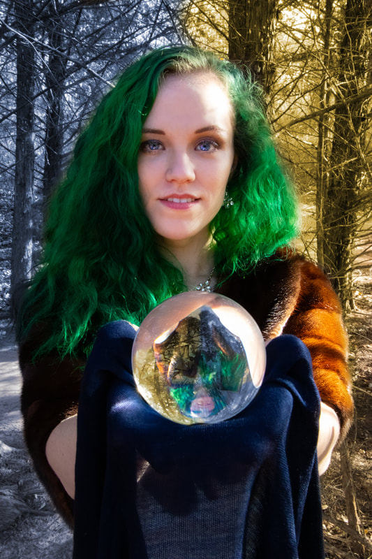 Photographer Instagram: @BeardedOkiePhotography  Model Instagram: @caliadne.amar . #woods #crystalball #crystal #fineart #fineartphotography #forest #magic #seasons #enchantedforest #enchanting #gypsy #seasons #winterspring #winter #spring #fall #autumn #crystalball #crystal #magic #greeneyes #greenhair #fur #furstole #oklahoma #oklahomacity #oklahomaphotographer #oklahomaphotography #oklahomacity #oklahomacityphotographer #oklahomacityphotography #oklahomaartist #artist #oklahomacityartist #beardedokie #beardedokiephotography